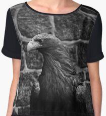 eagle, bird black and white Chiffon Top