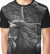 eagle, bird black and white Graphic T-Shirt