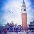 Piazza San Marco, Venice - Version 2 by Silvia Ganora