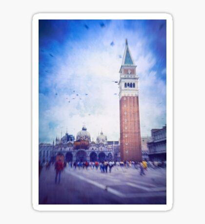 Piazza San Marco, Venice - Version 2 Sticker