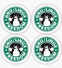GNU Linux Freedom Green Sticker