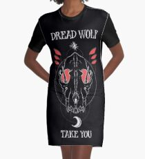 Dread Wolf Take You Graphic T-Shirt Dress