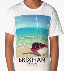 Brixham beach Devon vintage travel poster Long T-Shirt