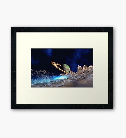 Saturn View - from Titan Framed Print