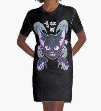 Spooky Cat Graphic T-Shirt Dress