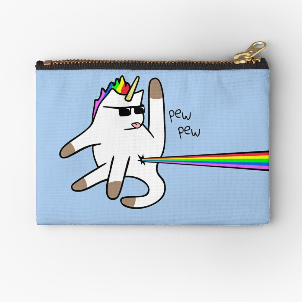 Unicorn Cat Rainbow Butt Laser Bolsos de mano