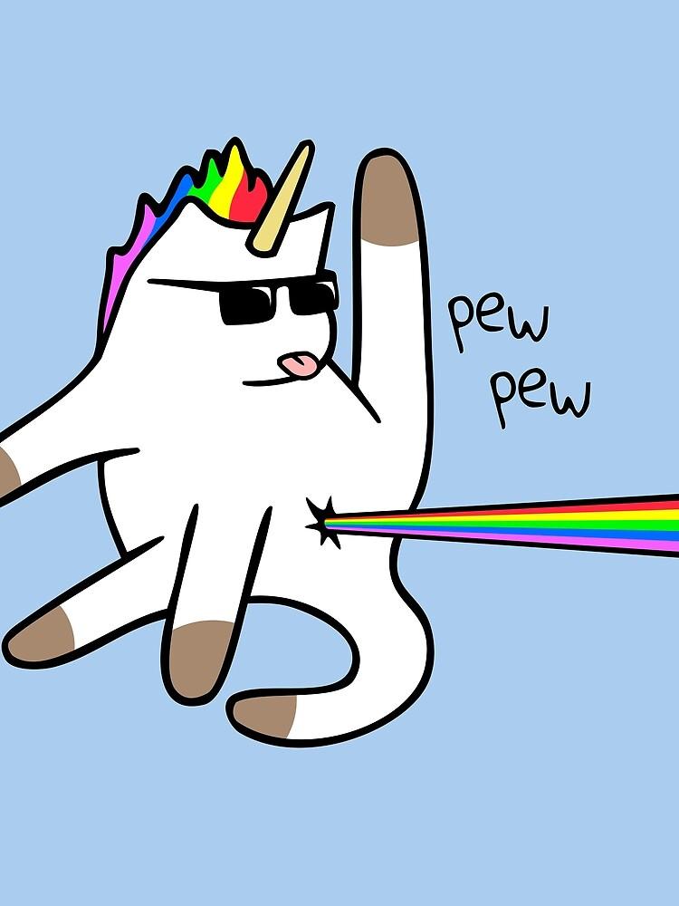 Unicorn Cat Rainbow Butt Laser de jezkemp