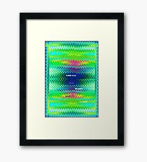 Abstract multicolor pixel art Framed Print