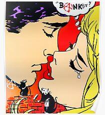 Banksy? Graffiti vs Pop Art Kiss Poster
