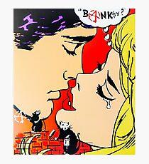Banksy? Graffiti vs Pop Art Kiss Photographic Print