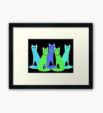 Cool Cats Framed Print
