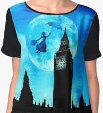 Magical Watercolor Night - Mary Poppins Women's Chiffon Top