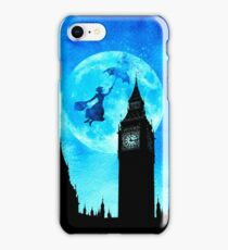Magical Watercolor Night - Mary Poppins iPhone Case/Skin
