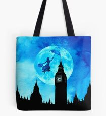 Magische Aquarell Nacht - Mary Poppins Tote Bag