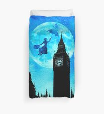 Magical Watercolor Night - Mary Poppins Duvet Cover