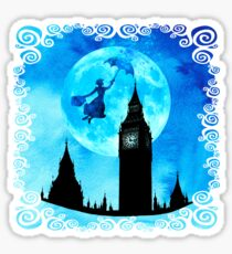 Magische Aquarell Nacht - Mary Poppins Sticker