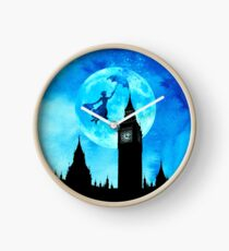 Magical Watercolor Night - Mary Poppins Clock