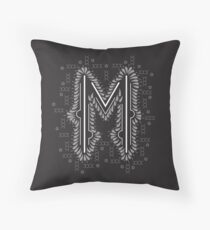M letter logo icon design with semicircles elements Throw Pillow