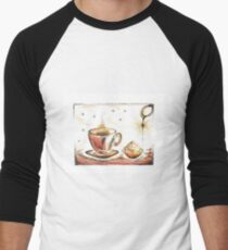 Golden Sweet Truffle with coffee Men's Baseball ¾ T-Shirt