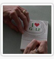 I LOVE GOLF - FARGO (COEN BROTHERS) Sticker