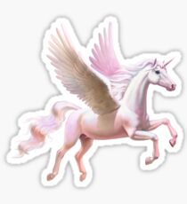 Flying unicorn at sunset Sticker