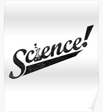 Team Science ! (Black Ink Edition) Poster