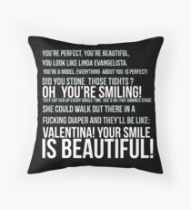 Linda Evangelista Throw Pillow