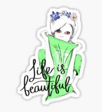 Life is Beautiful - Cosmopolitan Sweater Girl  Sticker