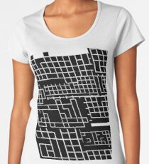 Black and white lines perspective v1.0 Women's Premium T-Shirt