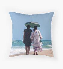 Beach Stroll - Da Nang, Vietnam Throw Pillow