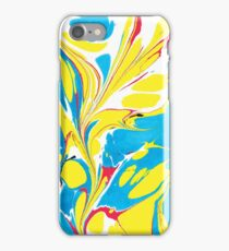 Ebru Marbling abstract art - Summer Sky iPhone Case/Skin