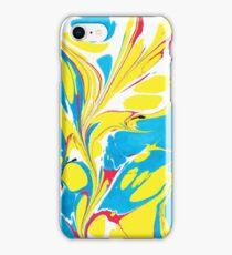 Ebru Marbling abstract art - Summer Sky iPhone Case/Skin