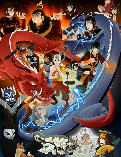 Avatar the last airbender posters by kumoridragon redbubble - Avatar poster ...