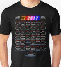 Calendar Nascar Cup Series 2017 Unisex T-Shirt