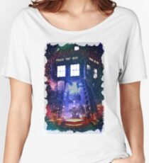 Nebula Public call Box In Space iPhone Case Women's Relaxed Fit T-Shirt