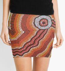 Aboriginal Waterhole Journey Mini Skirt