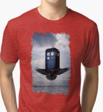 Police Call Box Flying with the Bird iPhone 6 Case Tri-blend T-Shirt