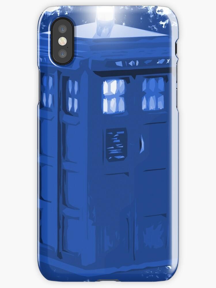 blue Box iPhone 6 plus case by DarrellHo