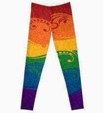 Ornamental Rainbow Flag Leggings