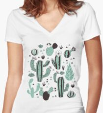 Cacti Women's Fitted V-Neck T-Shirt