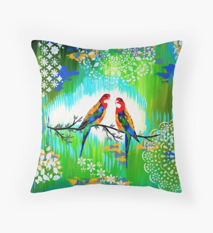 Green and Fresh Throw Pillow