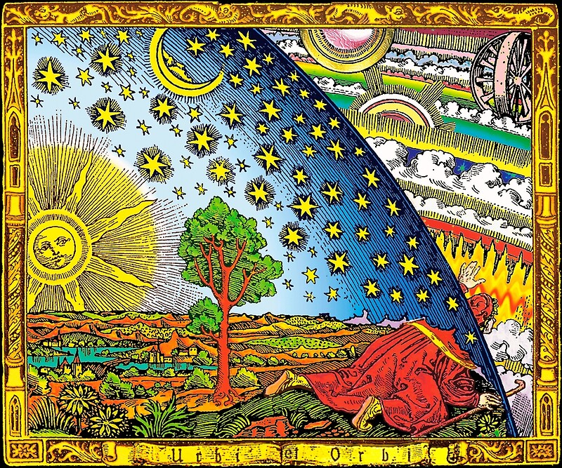 Quot Flammarion Engraving In Color Quot By Christinamorana Redbubble
