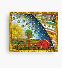 Flammarion engraving in Color Canvas Print