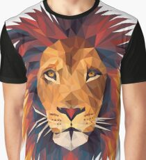 Low-poly Lion Graphic T-Shirt