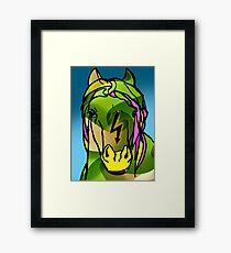 Green Horse  Framed Print