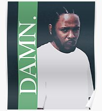 DAMN. - KENDRICK LAMAR ILLUSTRATION - green Poster