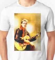 Eddie Cochran, Music Legend by John Springfield Unisex T-Shirt