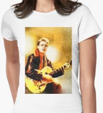 Eddie Cochran, Music Legend by John Springfield Womens Fitted T-Shirt