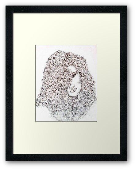 Curls, Mixed Media by Danielle Scott