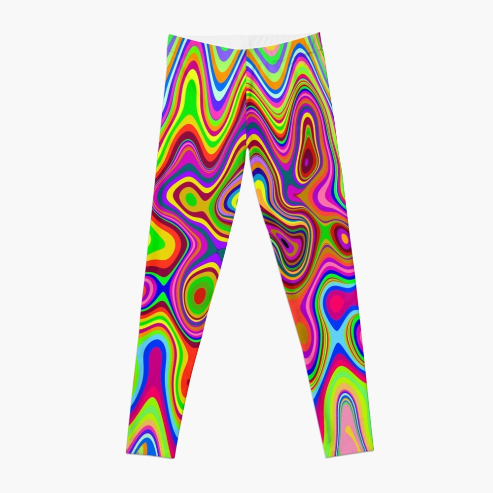 Psychedelic Glowing Colors Pattern Leggings